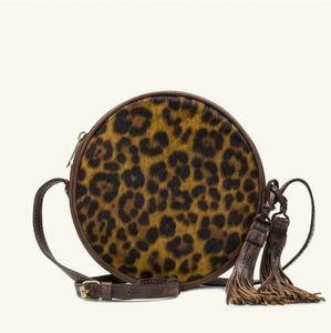 Patricia Nash Scafata Round Leopard Calf Hair Bag